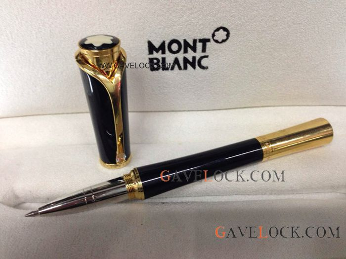 Montblanc Princess Monaco Black & Yellow Gold Rollerball Pen